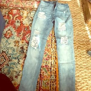 Pants - Distressed skinny jeans